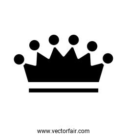royal crown of count silhouette style icon