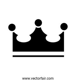royal crown of viscount silhouette style icon