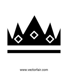 royal crown of duke silhouette style icon