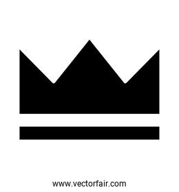 royal crown of infant silhouette style icon