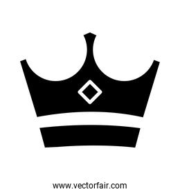 royal crown of mural silhouette style icon