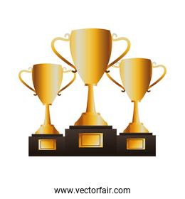 golden trophy cups awards icons