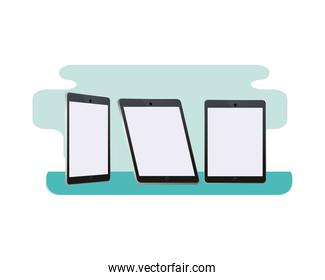 tablets digital devices technology icons
