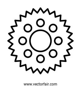 gear bicycle line style icon