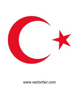 turkey flag country isolated icon
