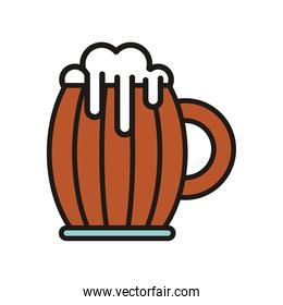 beer wooden jar drink international day fill style