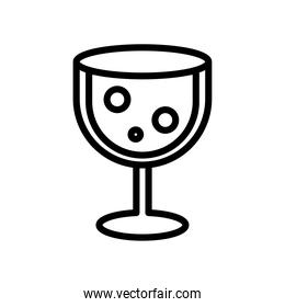 wine cup line style icon