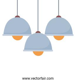ceiling lamps light bulb decoration isolated design icon white background