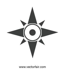 compass rose navigation cartography tool line design icon