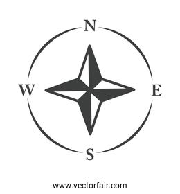 compass rose navigation cartography explore equipment line design icon
