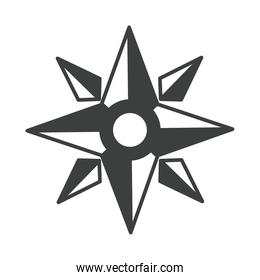 compass rose navigation cartography journey equipment line design icon