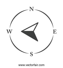 compass rose navigator cartography equipment line design icon