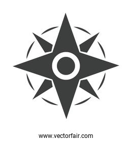 compass rose navigation adventure equipment line design icon