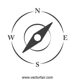 compass rose navigation location equipment line design icon