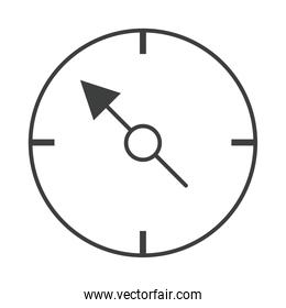 direction of the compass navigation cartography equipment line design icon