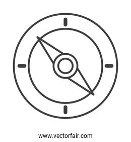 compass rose navigation cartography expedition line design icon