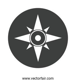 compass rose navigation cartography tool silhouette design icon