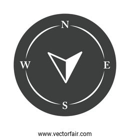 compass rose navigation cartography discovery equipment silhouette design icon