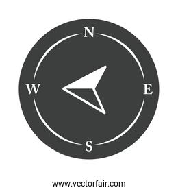 compass rose navigator cartography equipment silhouette design icon