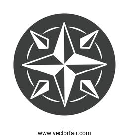 compass rose destination cartography equipment silhouette design icon