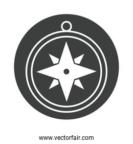 compass rose navigation journey equipment silhouette design icon