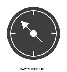 direction of the compass navigation cartography equipment silhouette design icon