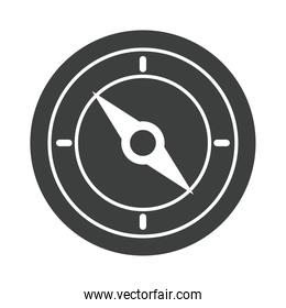 compass rose navigation silhouette style icon