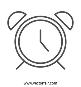alarm clock time linear style icon