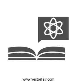 teach school and education book lesson science silhouette style icon