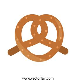 bread pretzel menu bakery food product flat style icon