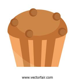 bread dessert cupcake menu bakery food product flat style icon