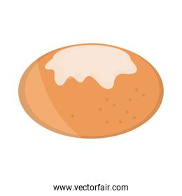 bread bun with cheese menu bakery food product flat style icon