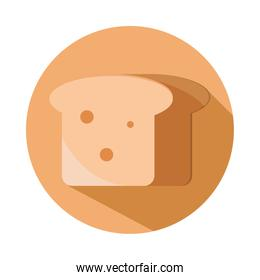 bread whole grain menu bakery food product block and flat icon