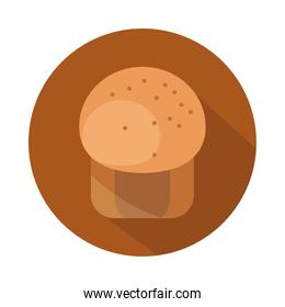 bread muffin menu bakery food product block and flat icon