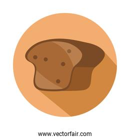 whole wheat bread menu bakery food product block and flat icon