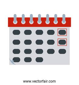 calendar reminder date time flat style icon