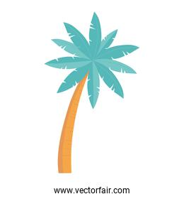 tropical palm tree cartoon isolated design icon white background