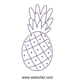 tropical fruit pineapple cartoon isolated design icon white background