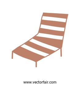 deck chair furniture comfort cartoon isolated design icon