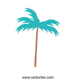 palm tree tropical nature cartoon isolated design icon