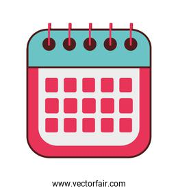 calendar reminder date month icon isolated design