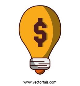 money business solution icon isolated design shadow