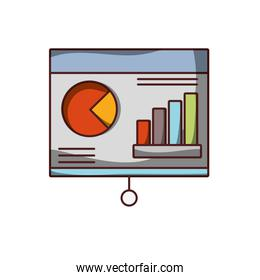 presentation business financial chart growth icon isolated design shadow