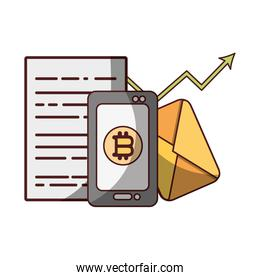 bitcoin in smartphone, trade application cryptocurrency money