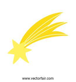 shooting star bright cartoon isolated icon design