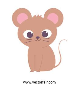 cute little mouse animal cartoon isolated design icon