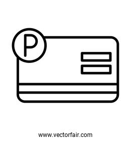 parking card ticket transport line style icon design