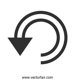 arrow double curved rotate silhouette style icon