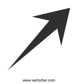arrow direction related icon, up growth graphic concept silhouette style