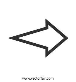 arrow direction related icon, right pointing orientation silhouette style